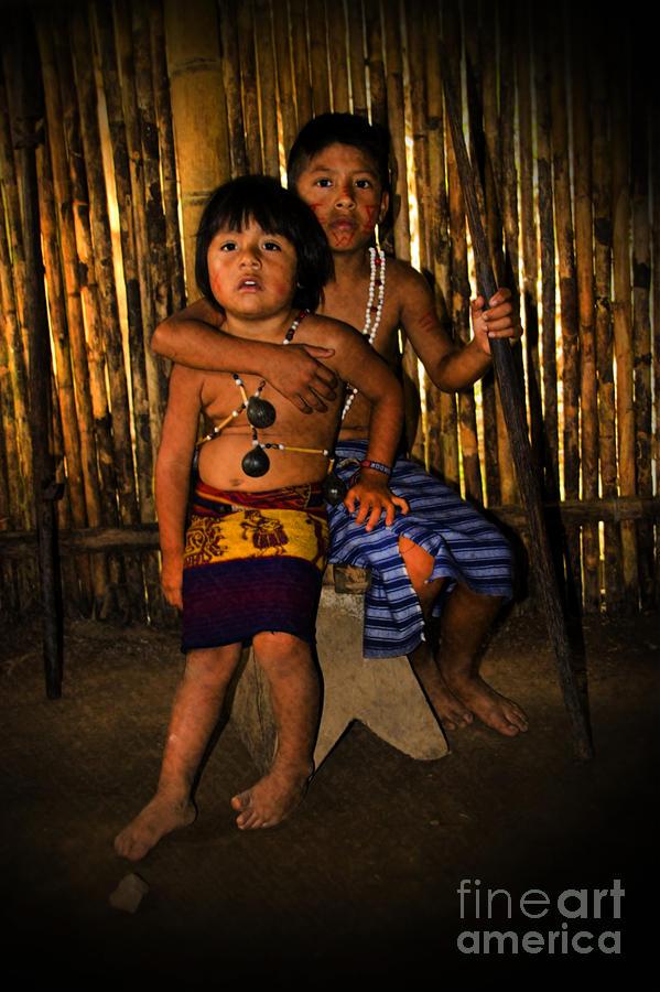 Boy Photograph - Sucua Kids 901 by Al Bourassa