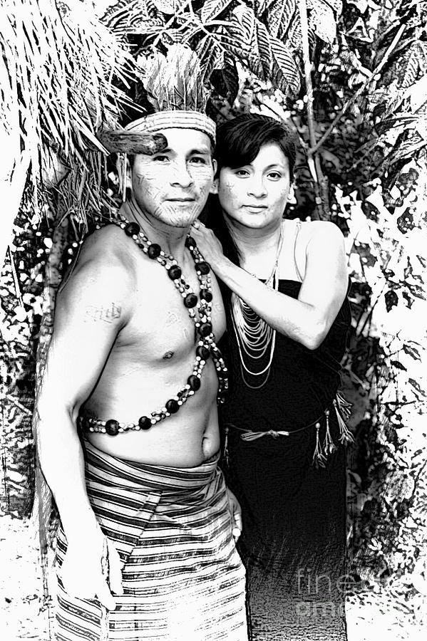 Amazon Photograph - Sucua Shaman And Spouse by Al Bourassa