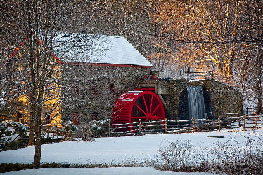 Boston Area Photograph - Sudbury Gristmill by Susan Cole Kelly