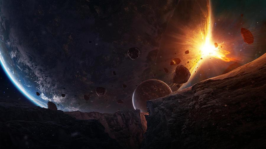 Planet Digital Art - Sudden Encounter by Tobias Roetsch