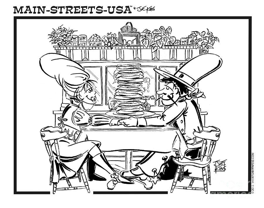Street Scape Digital Art - Sue Anns Apple Pan by Joe King