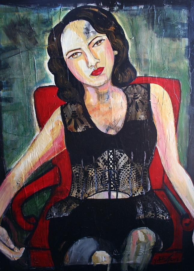 Figurative Painting - Sueno De La Actriz by Yolanda Gonzalez