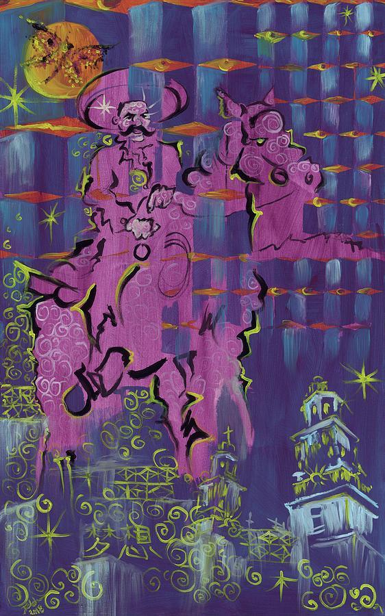 Alfredo Arreguin Painting - Sueno de Zapata by Doug Johnson