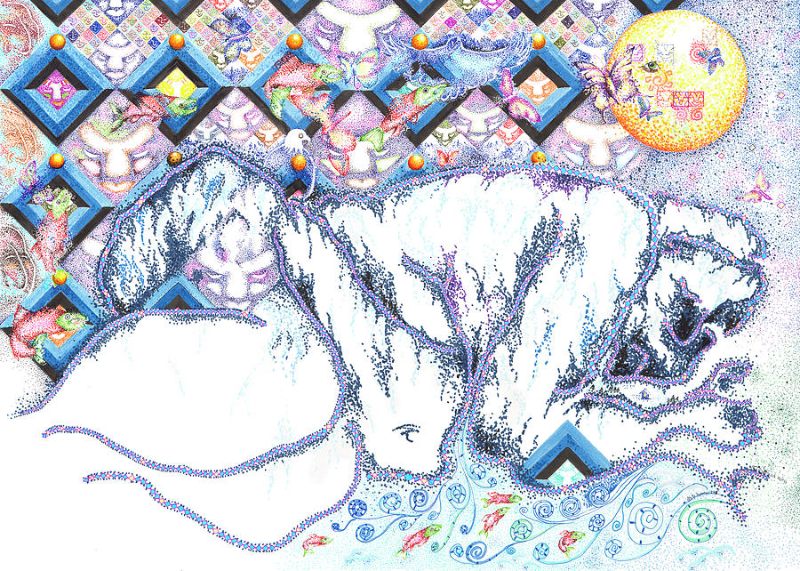 Alfredo Arreguin Drawing - Suenos de Invierno Winter Dreams by Doug Johnson