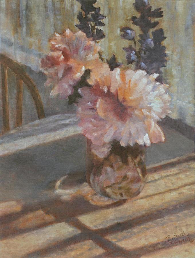 Peonies Painting - Sues Peonies by Rita Bentley