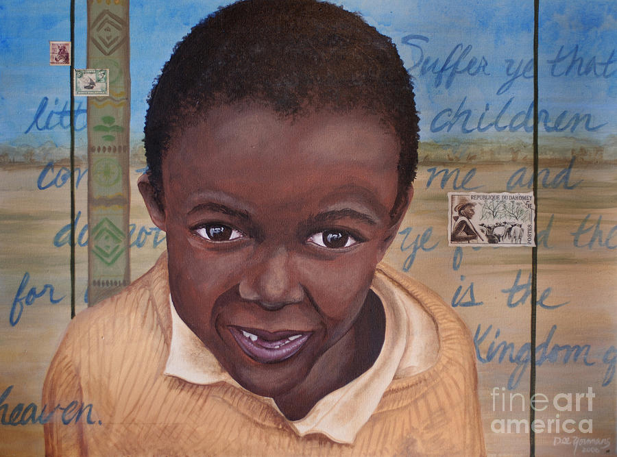 Boy Painting - Suffer The Children by Dee Youmans-Miller