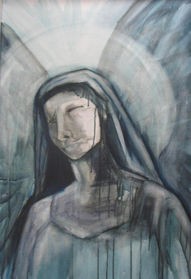 Suffering Of Mary Painting by Barbara Simpson