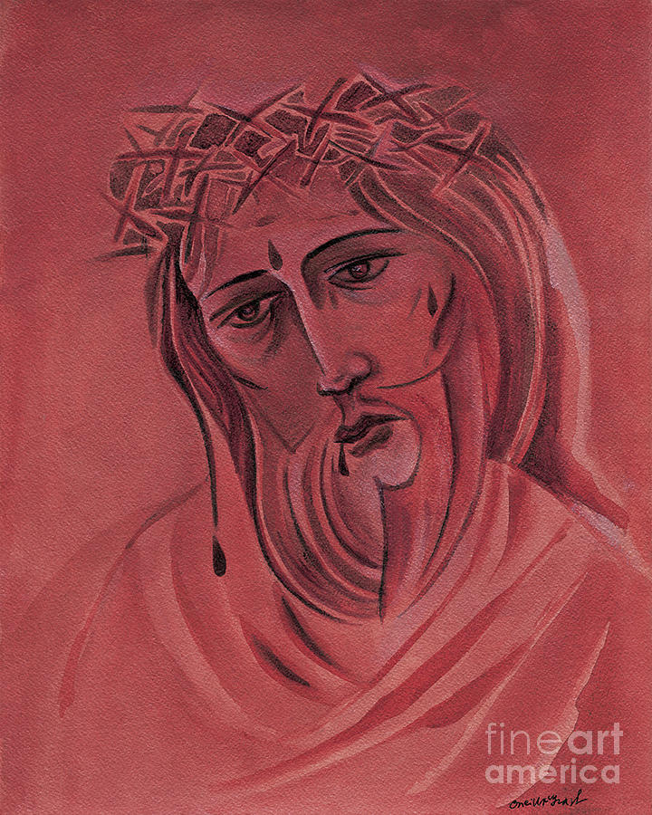 Suffering Servant Painting - Suffering Servant - Mmsus by Br Mickey McGrath OSFS