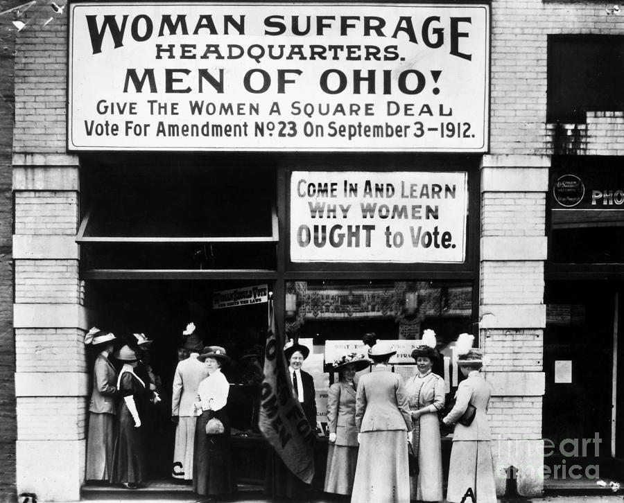 1912 Photograph - Suffrage Headquarters by Granger