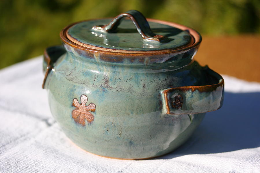 Ceramic Canister Ceramic Art - Sugar Canister by Monika Hood