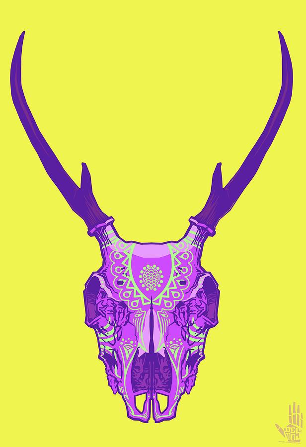 Gypsy Digital Art - Sugar Deer by Nelson Dedos Garcia