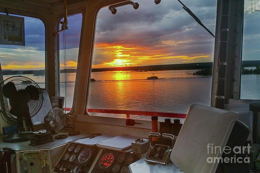 Ship Photograph - Sugar Islander II Sunrise -0054 by Norris Seward