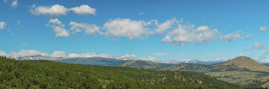 Rocky Mountain Peaks Photograph - Sugar Magnolia Summer Rocky Mountain Peaks Panorama View by James BO Insogna