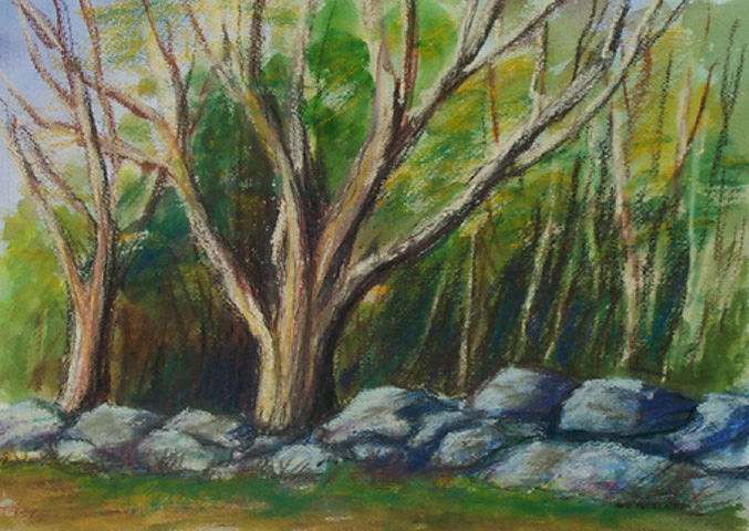 Landscape Painting - Sugar Maples by Anne Trotter Hodge