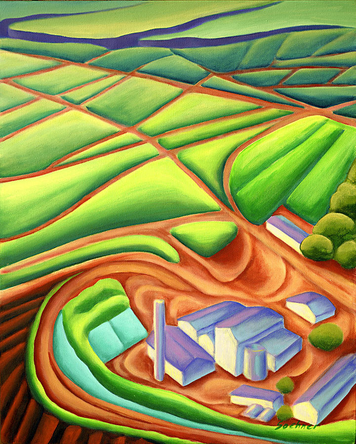 Hawaiian Landscape Painting - Sugar Mill by Lynn Soehner