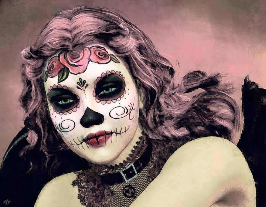 Sugar Skull Angel by Maynard Ellis