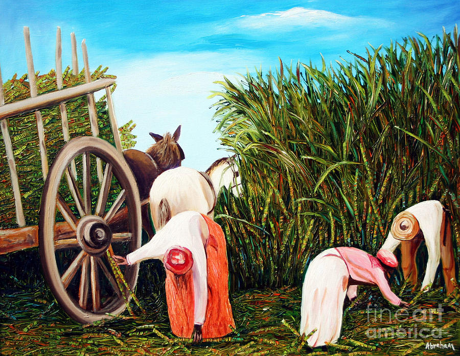 Sugarcane Worker 1 Painting by Jose Manuel Abraham