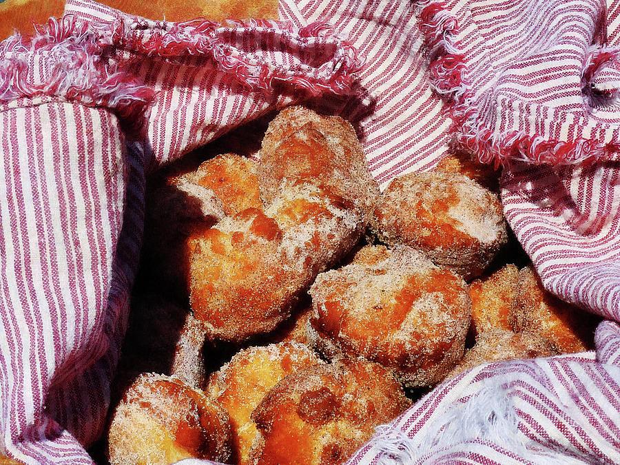 Donut Photograph - Sugared Donut Holes by Susan Savad