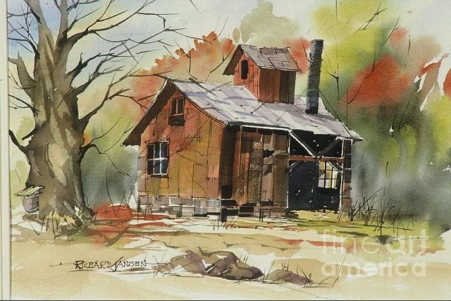 Watercolor Painting - Sugaring by Richard Jansen