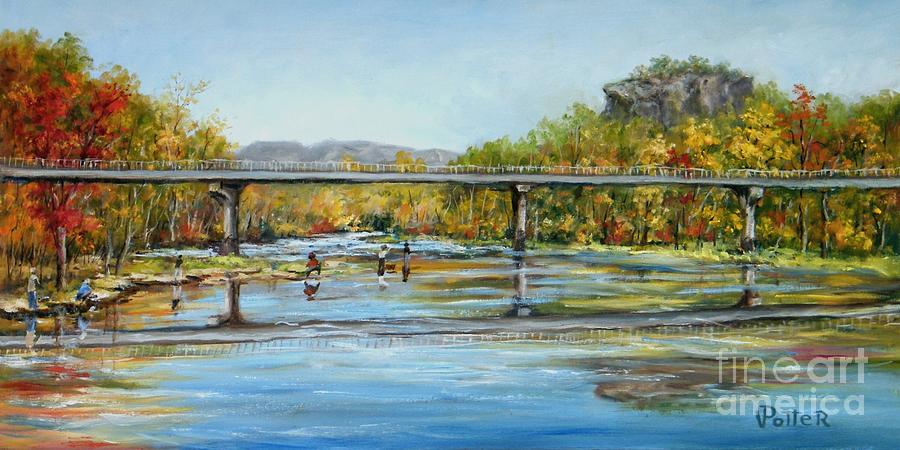 Bridge Painting - Sugarloaf Mountain by Virginia Potter