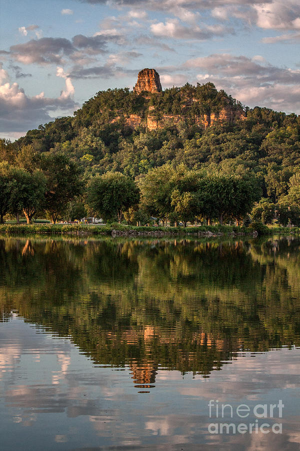Winona Photograph - Sugarloaf Reflection Winona by Kari Yearous