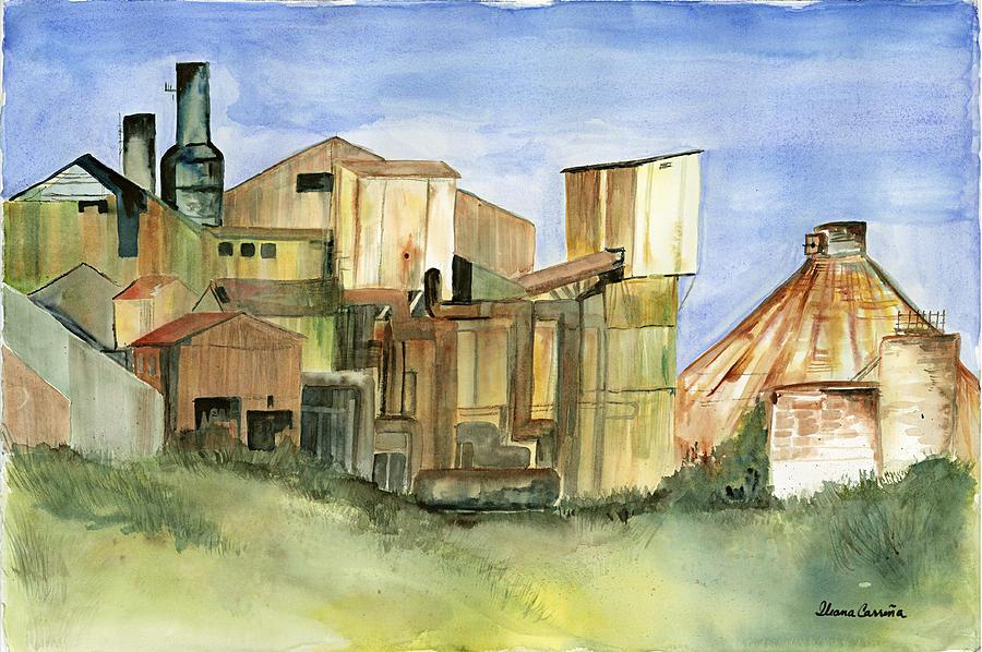 Sugarmill In Kauai 2 Painting by Ileana Carreno