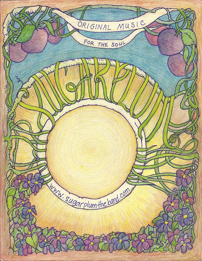 Sugarplum #5 Drawing by Cynthia Silverman