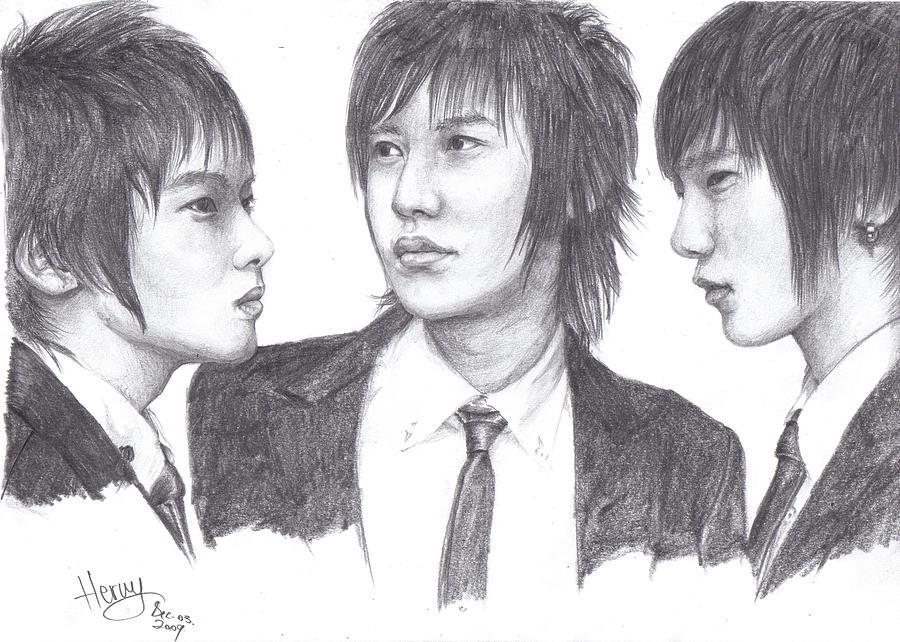 Suju Drawing by Hermina K