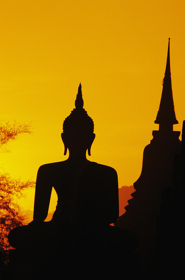 Ancient Photograph - Sukhothai Temple by Gloria & Richard Maschmeyer - Printscapes