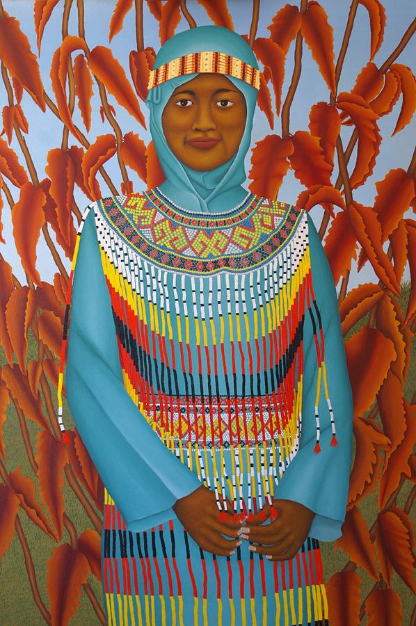 Portrait Painting - Sulawesi Girl by Brian Leverton