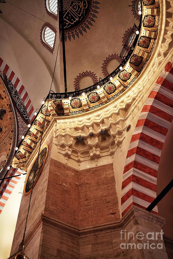 Suleymaniye Mosque Photograph - Suleymaniye Architecture by John Rizzuto