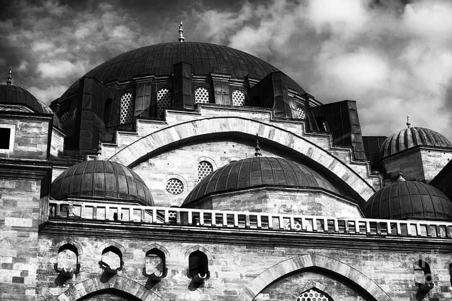 Domes Photograph - Suleymaniye  by John Rizzuto