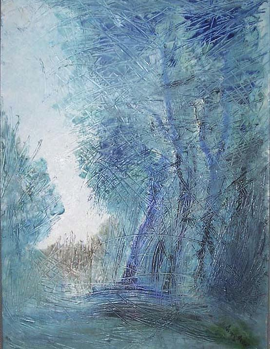 Tree Painting - Sulle Soglie Del Bosco by Michel Croteau