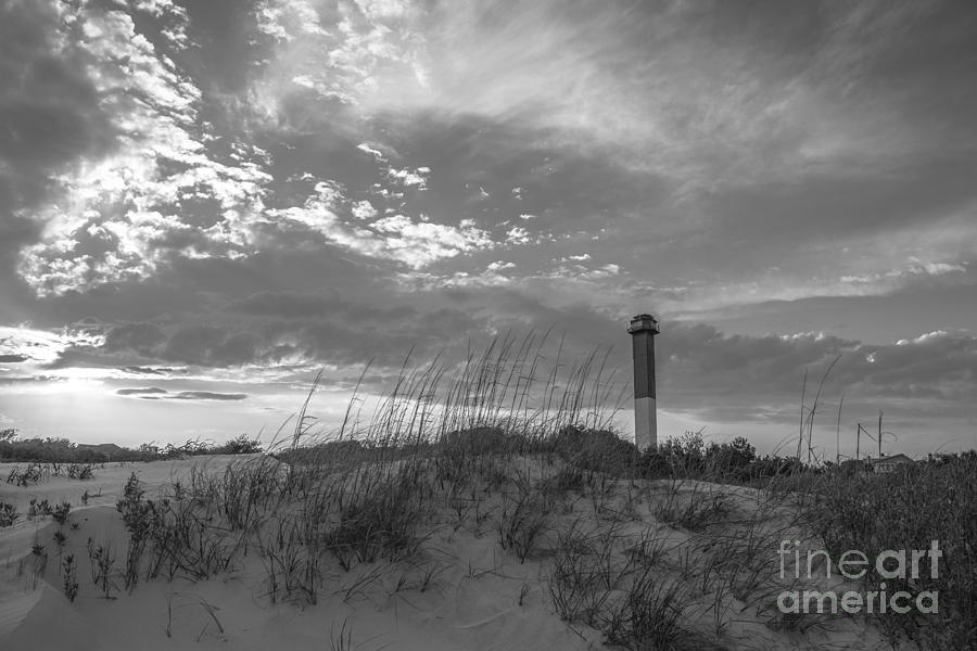 Sullivans Island Lighthouse In Black And White 2 Photograph