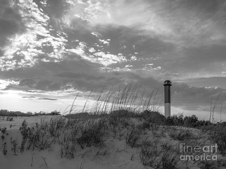 Sullivans Island Lighthouse In Black And White 6 Photograph