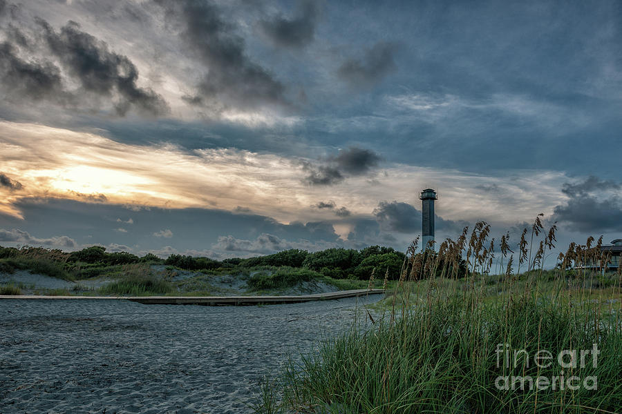 Sullivans Island Lighthouse Sandy Toes Photograph