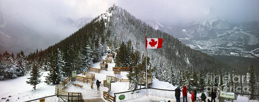 Snow Photograph - Sulphur Mountain In Banff National Park In The Canadian Rocky Mountains by Akshay Thaker PhotOvation
