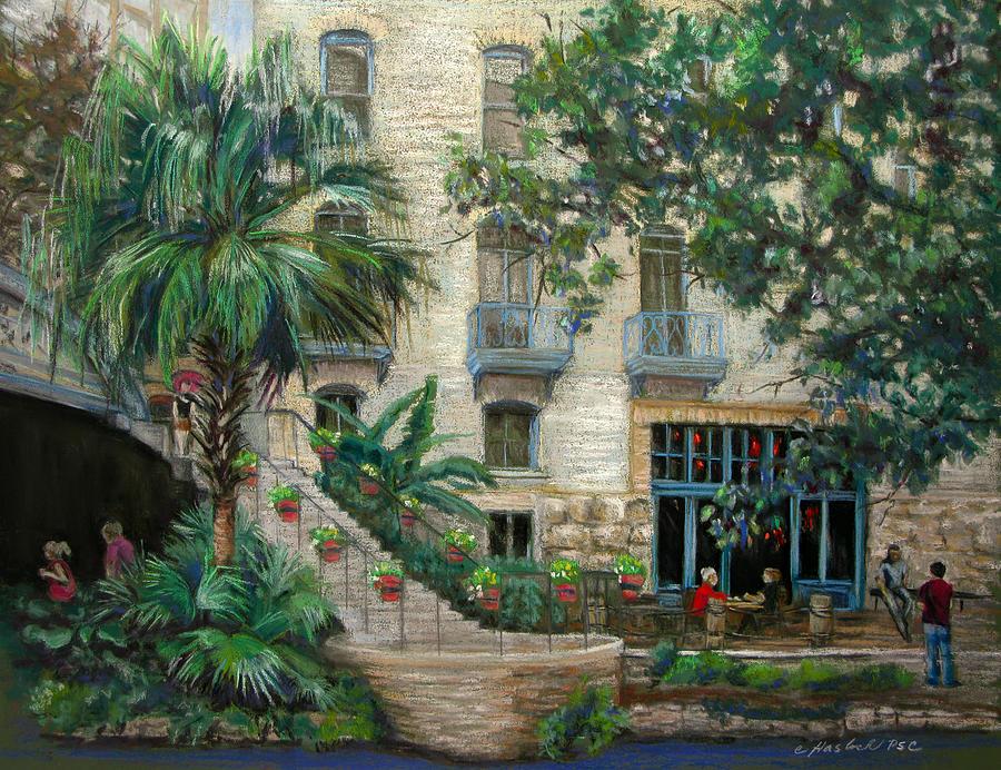 River Walk Pastel - Sultry San Antonio by Carole Haslock
