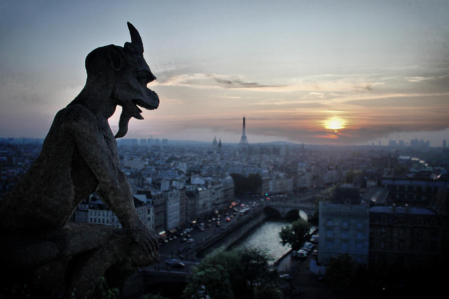 Notre Dame Photograph - Sultry Summer Eve by Dan Swackhammer