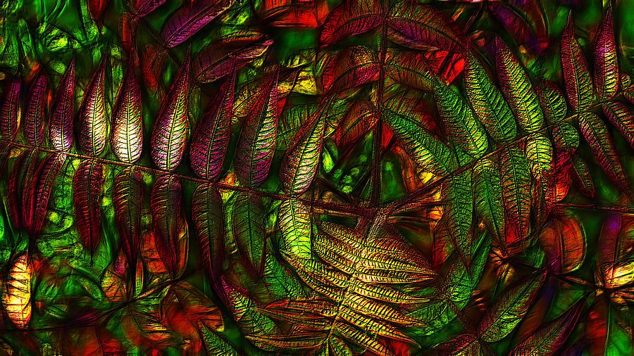 Sumac Autumn Foliage Digital Art