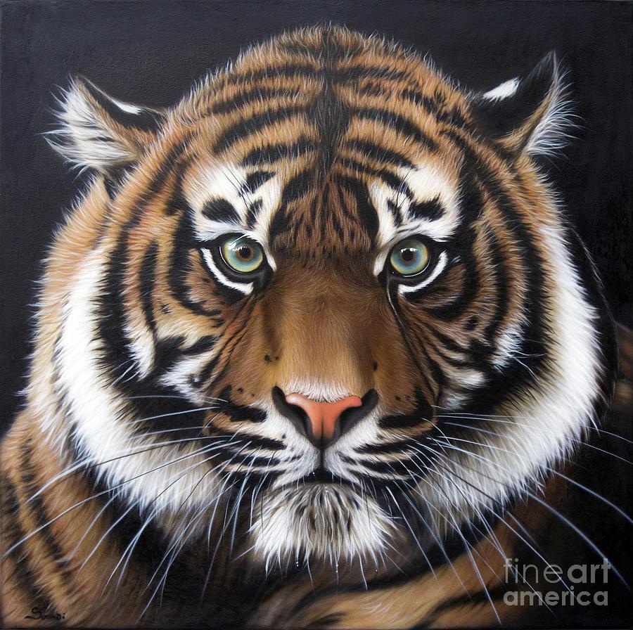 Tiger Painting - Sumatran 2 by Sandi Baker