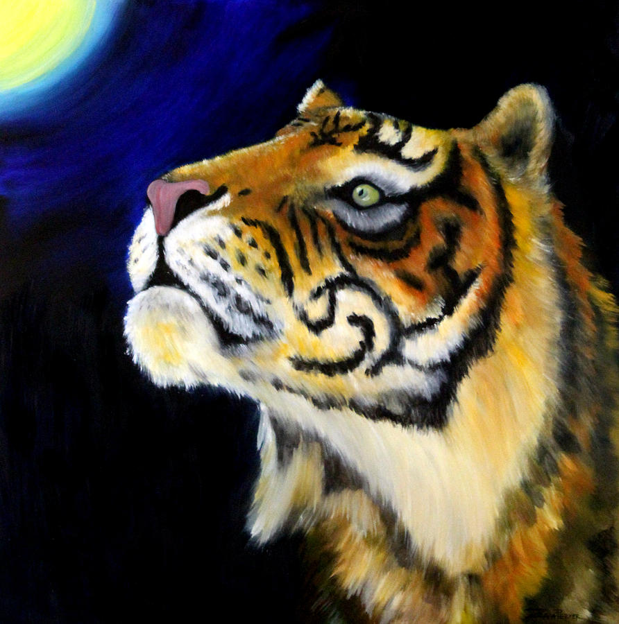 Tiger Artwork Painting - Sumatran Tiger by Zuzana Perner