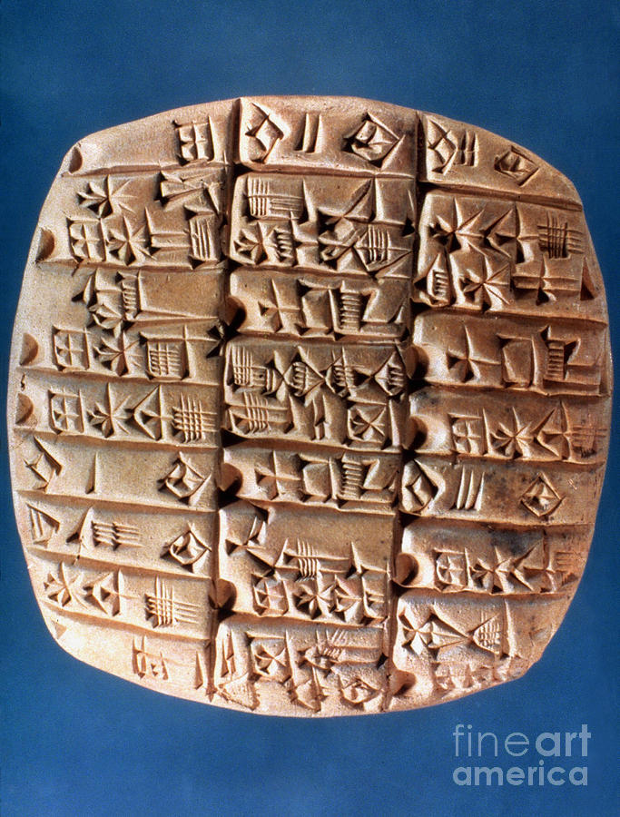 Account Photograph - Sumer Tablet Of Accounts by Granger