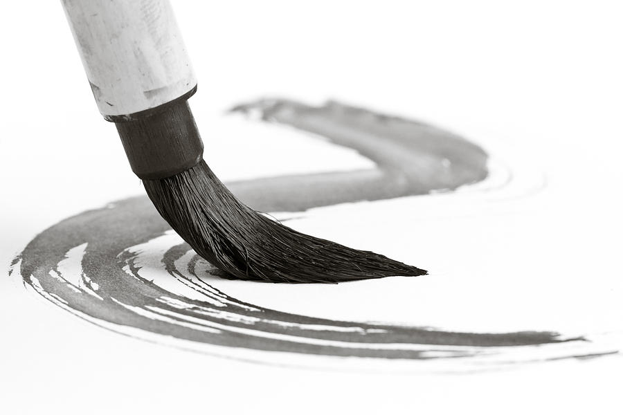 Sumi-e Photograph - Sumi-e Brush 2 by Edward Myers