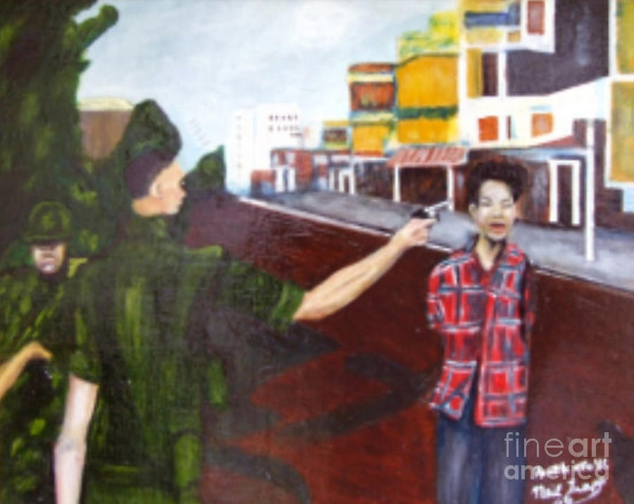 Vietnam War Painting - Summary Execution by Neil Trapp