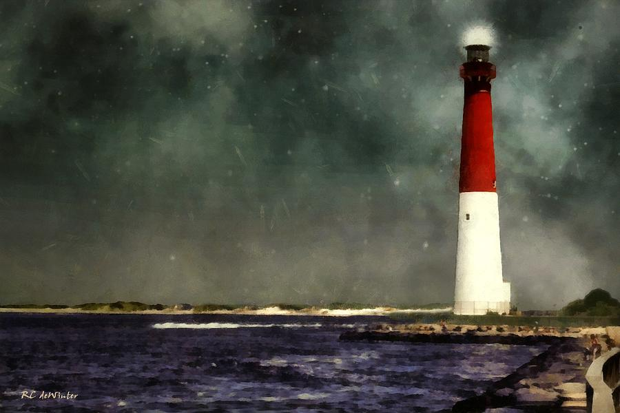 Summer Night At The Shore Painting By Rc Dewinter