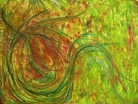 Abstract Painting - Summer - Whirling by Rae Chichilnitsky