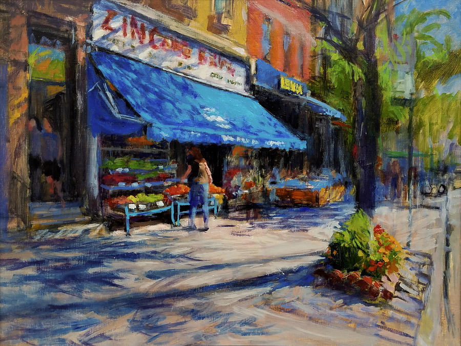 Family Business Painting - Summer Afternoon, Columbus Avenue by Peter Salwen