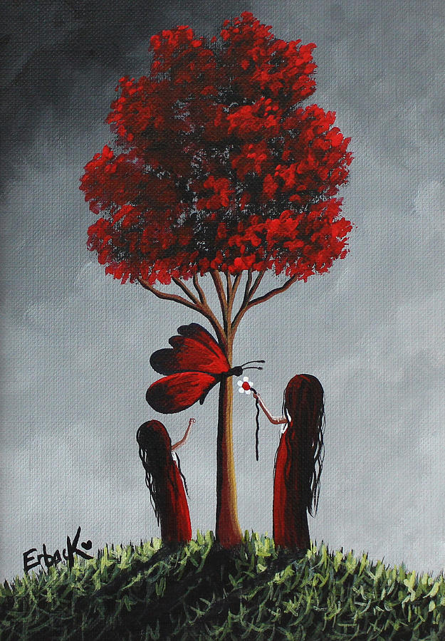 Red And Grey Surreal Art by Erback Art