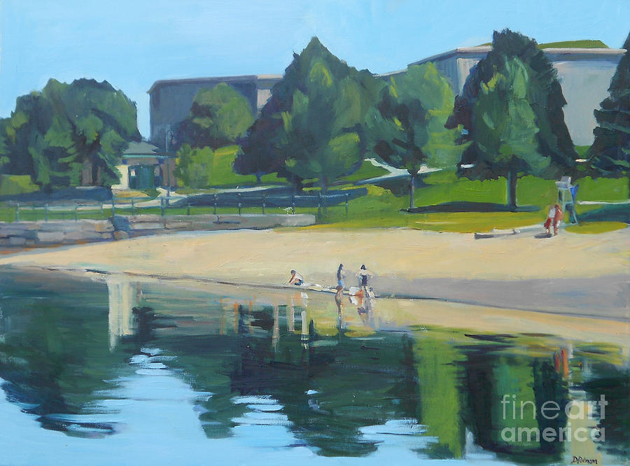 South Boston Painting - Summer At Castle Island by Deb Putnam